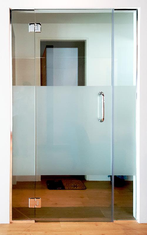 gw04-Tempered Glass Swing Door Kitchen Dining Divider Custom Extension 1-4